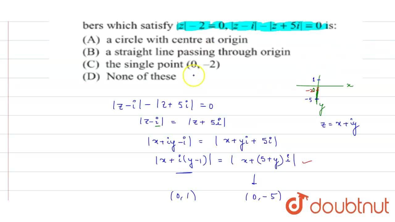 Solution for The locus of the points representing the complex n