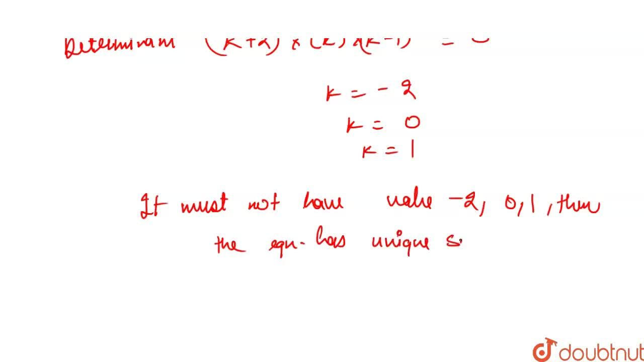 Solution for The system of simulataneous equations <br> kx + 2
