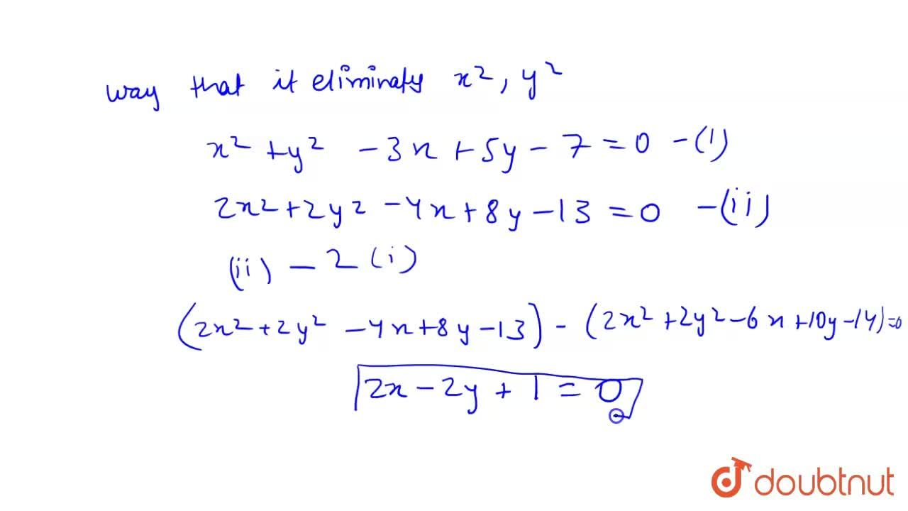 Solution for Find the equation of radical axis of the circles