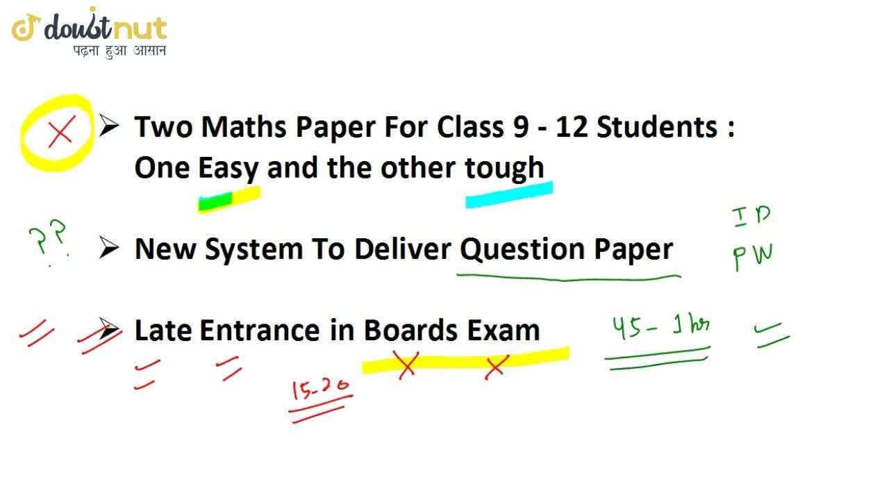 Solution for 5 Major Chages In Class 10 & 12 Board Exams