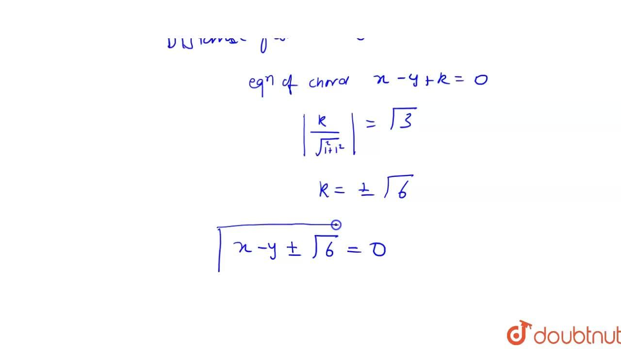 Solution for Let alpha chord of a circle be that chord of the