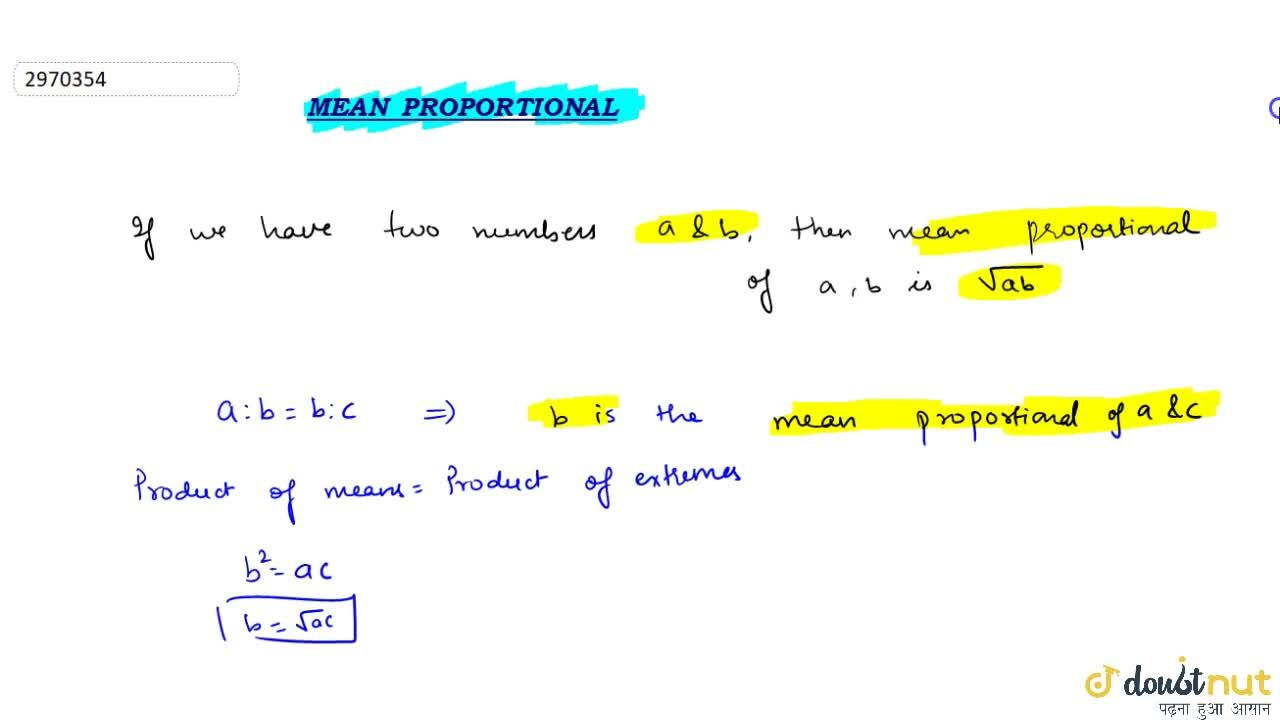 What is Mean Proportional