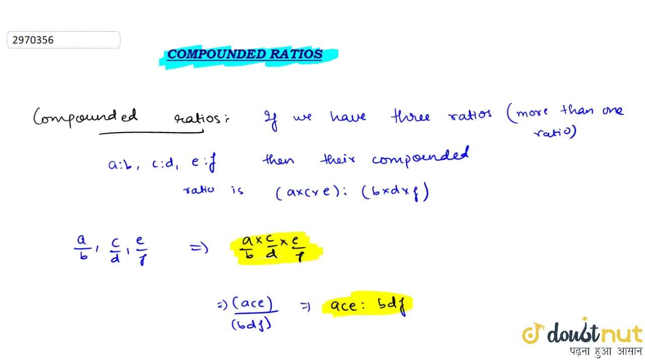 Compounded Ratio