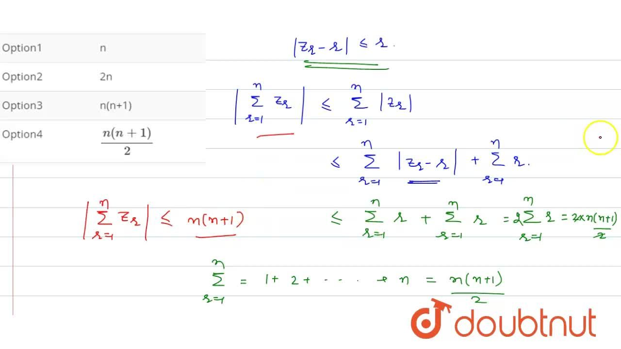 Solution for Let  Z_(r) - r  le r, for all r = 1,2,3….,n. T