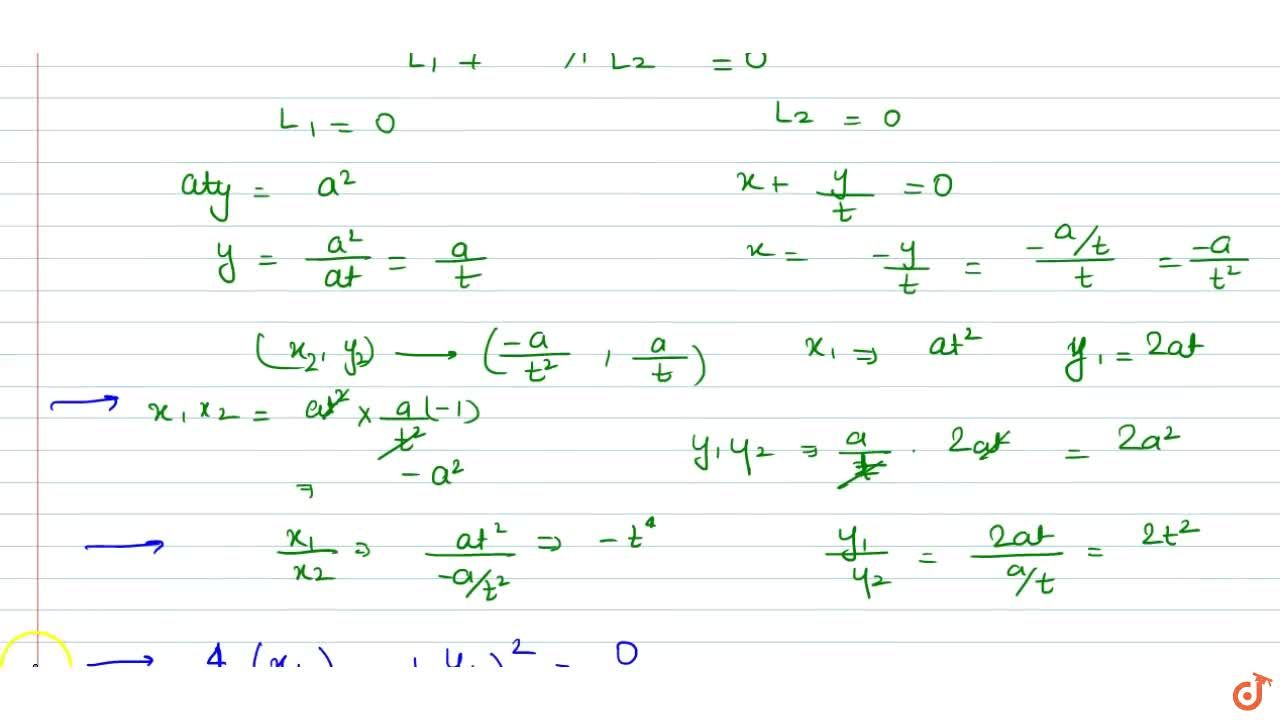 Tangent is drawn at any point (x_1, y_1) other than the vertex on the parabola y^2=4a x . If tangents are drawn from any point on this tangent to the circle x^2+y^2=a^2 such that all the chords of contact pass through a fixed point (x_2,y_2), then x_1a ,x_2 in GP (b) (y_1),2,a ,y_2 are in GP -4,(y_1),(y_2),x_1,,x_2 are in GP (d)   x_1x_2+y_1y_2=a^2