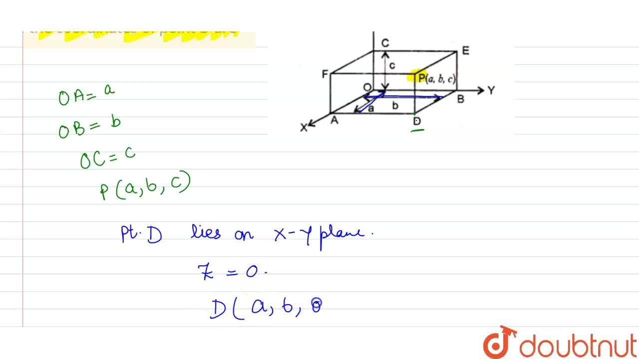 Solution for In Fig 4 the coordinates of point D are