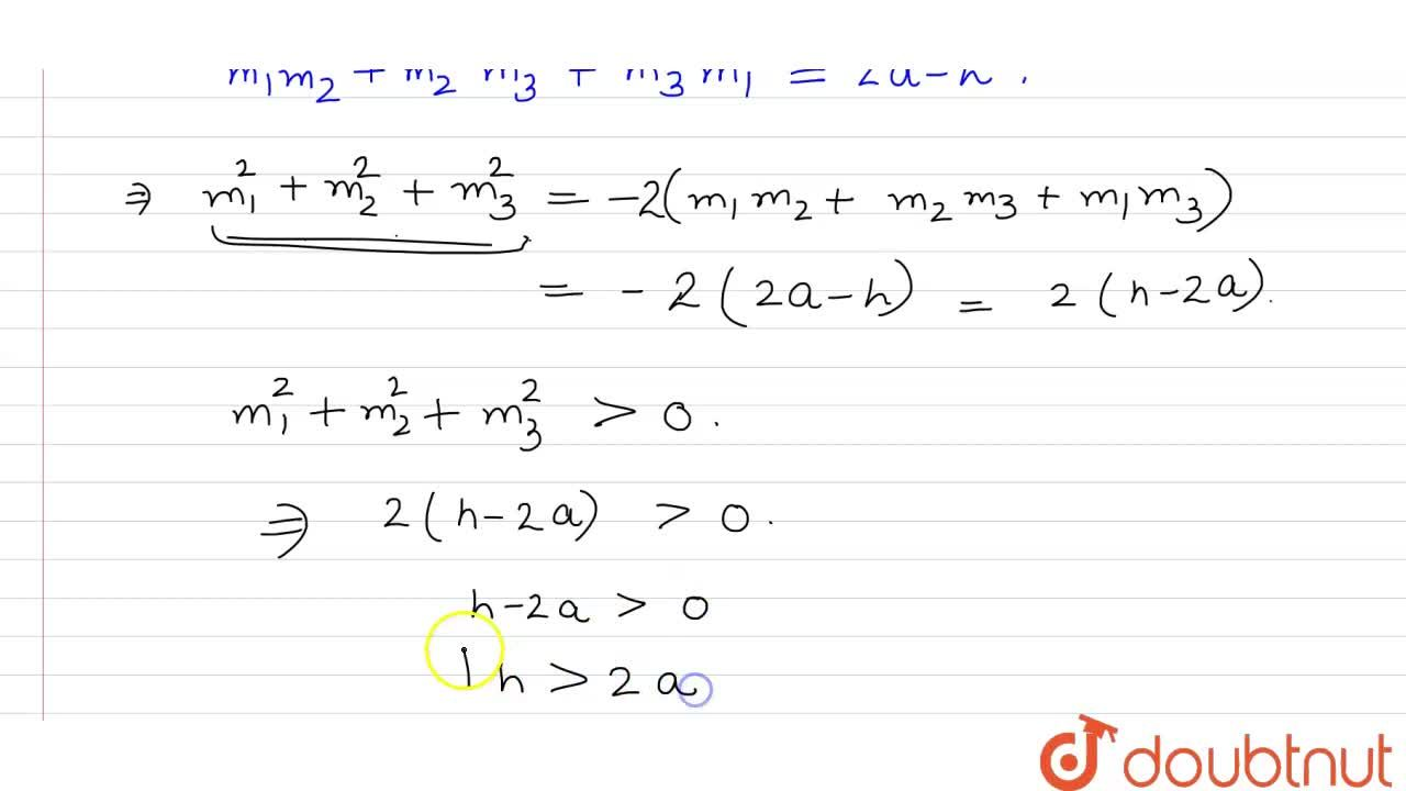 Solution for If normals drawn at three different point on the p