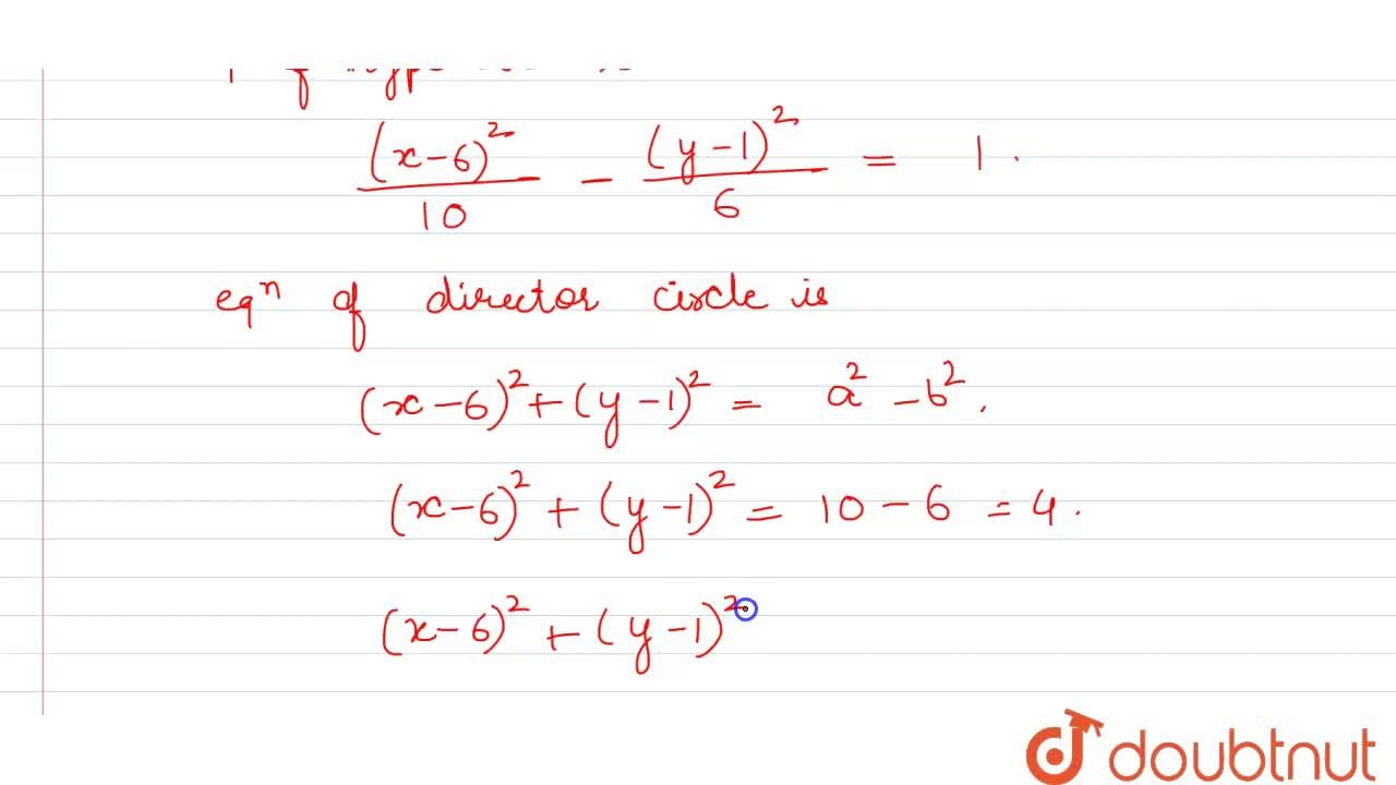 Solution for Find the equation of hyperbola having foci S(2, 1)