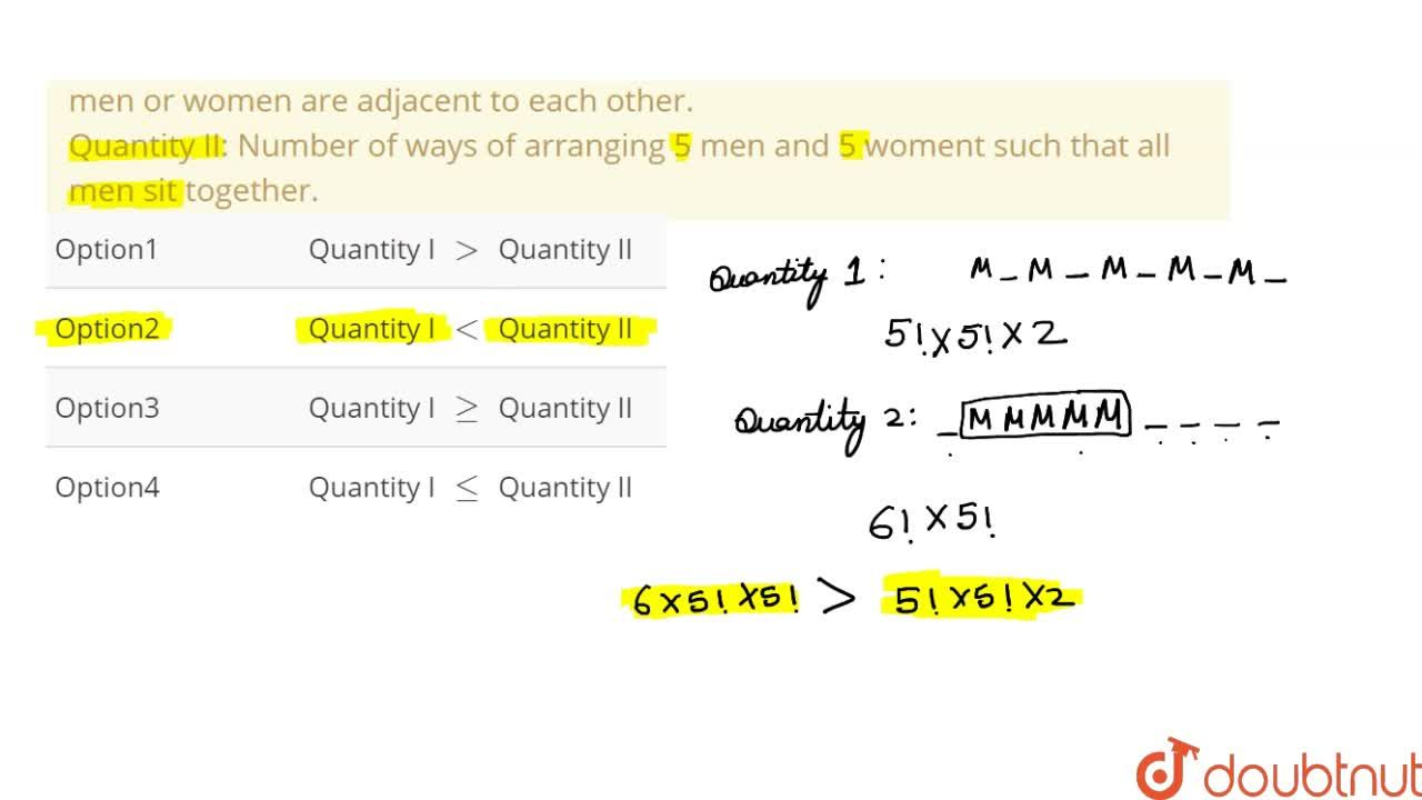 Solution for Five men and five women are be arranged in a row w