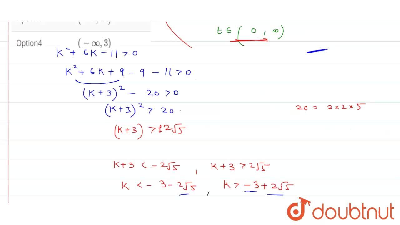 Solution for If the inequality cot^(2)x + (k +1) cot x - (k-3)