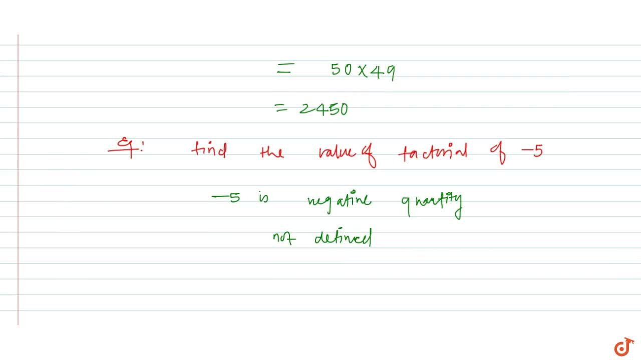 Solution for Factorial: definition and notation
