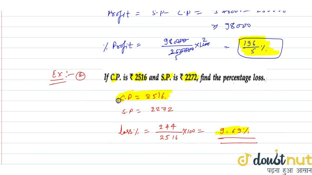 Solution for What is Cost Price (C.P.)
