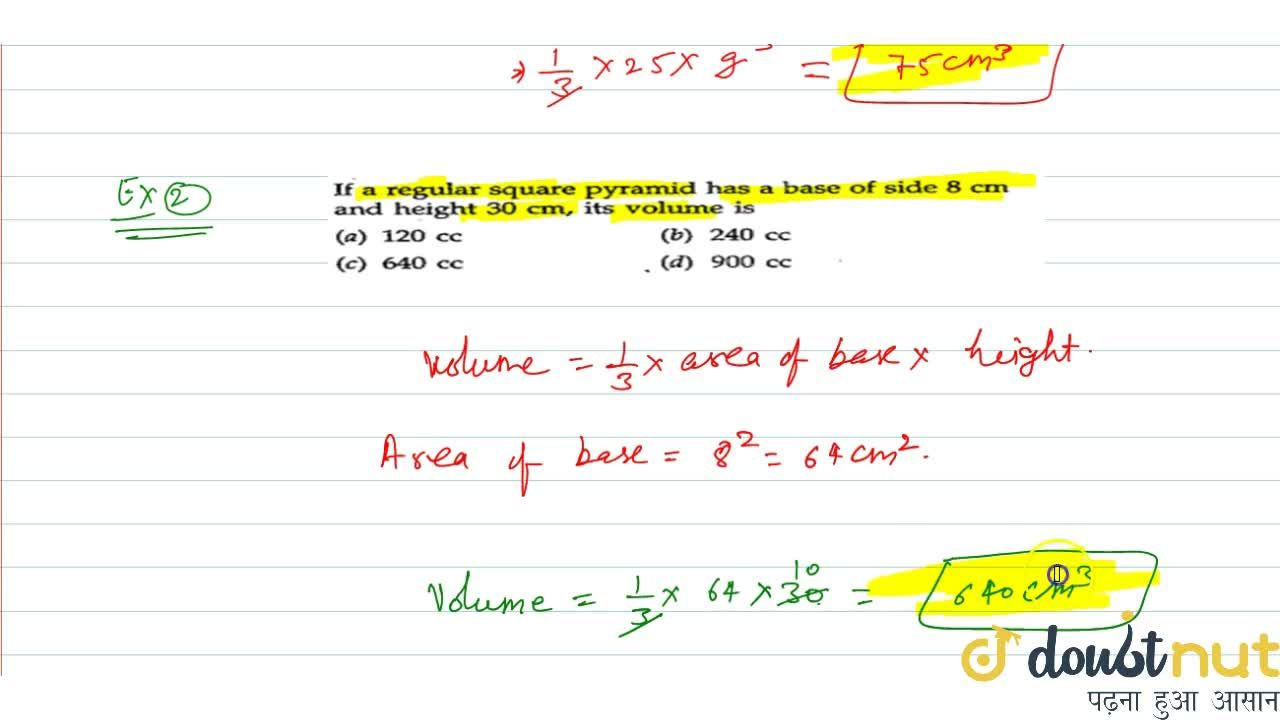 Solution for Volume of pyramid