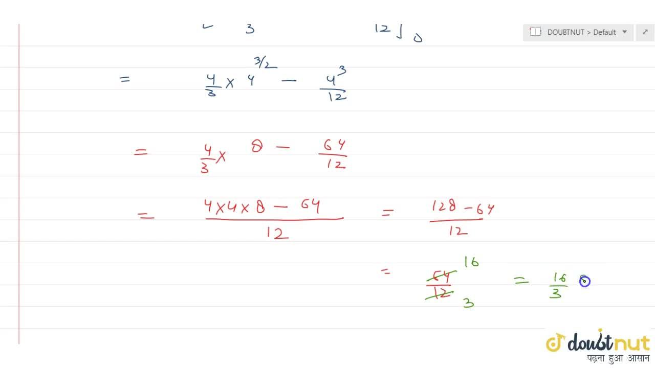 Draw a rough sketch and find the area of the region bounded by the parabolas y^2 = 4x and x^2 = 4y, using the method of integration.