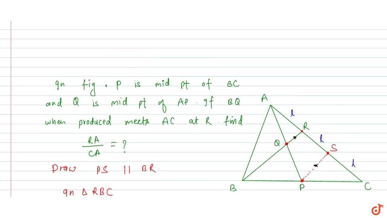 The line joining the midpoints of any two sides of a triangle is parallel to 3rd side and equal to half of it