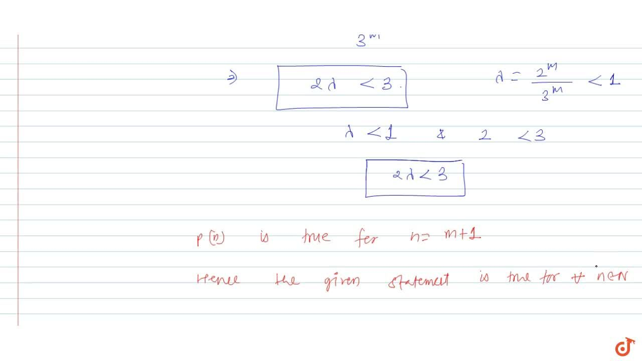 Solution for  Prove by using principle of mathematical inductio