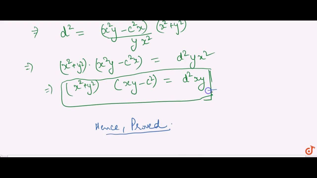 Solution for If a hyperbola be rectangular, and its equation be