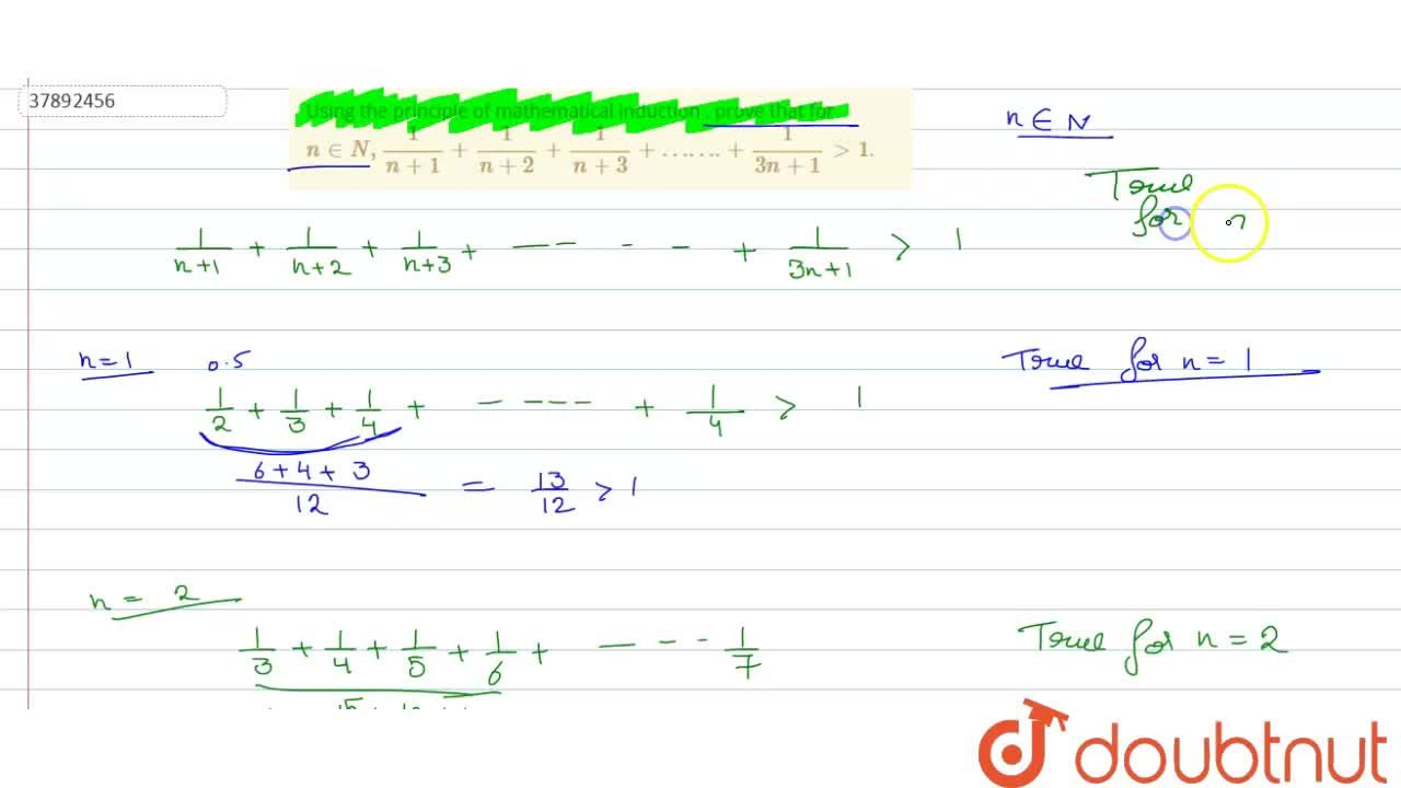 Solution for Using the principle of mathematical induction , pr