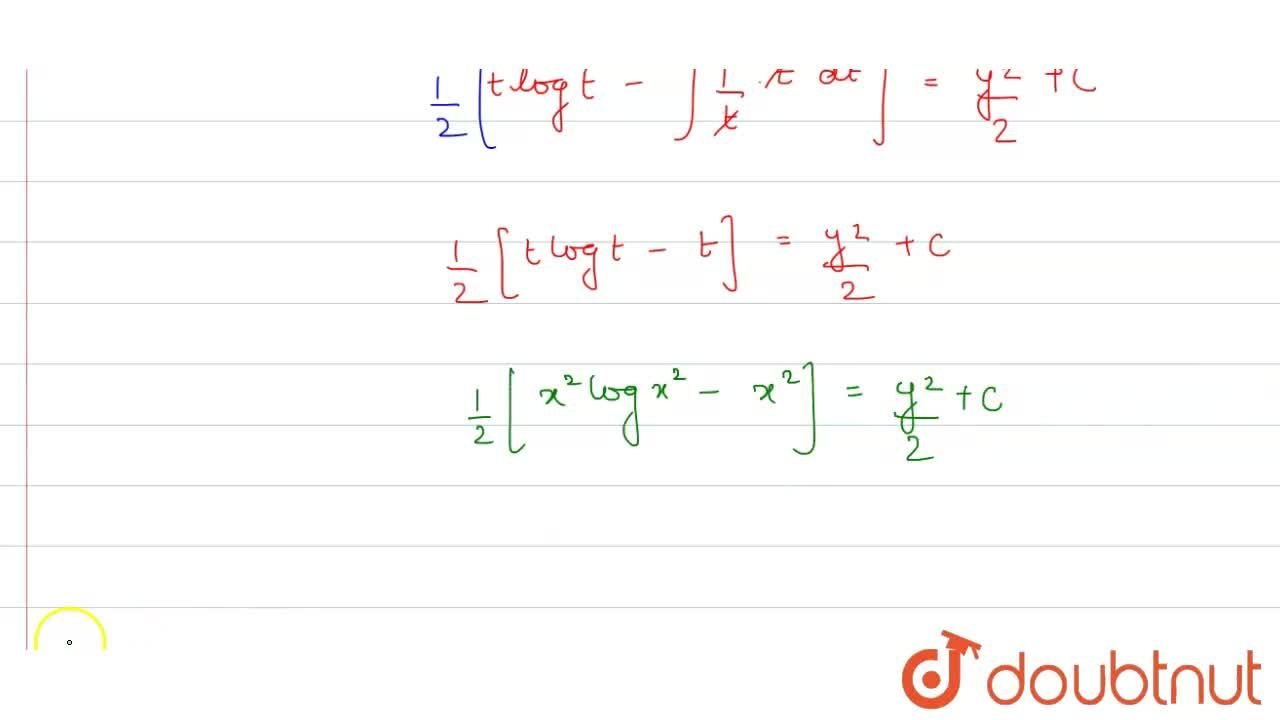 The solution of differential equation x^(2)=1 + (x,y)^(-1) (dy),(dx) + ((x,y)^(-2)((dy),(dx))^(2)),(2)+.....