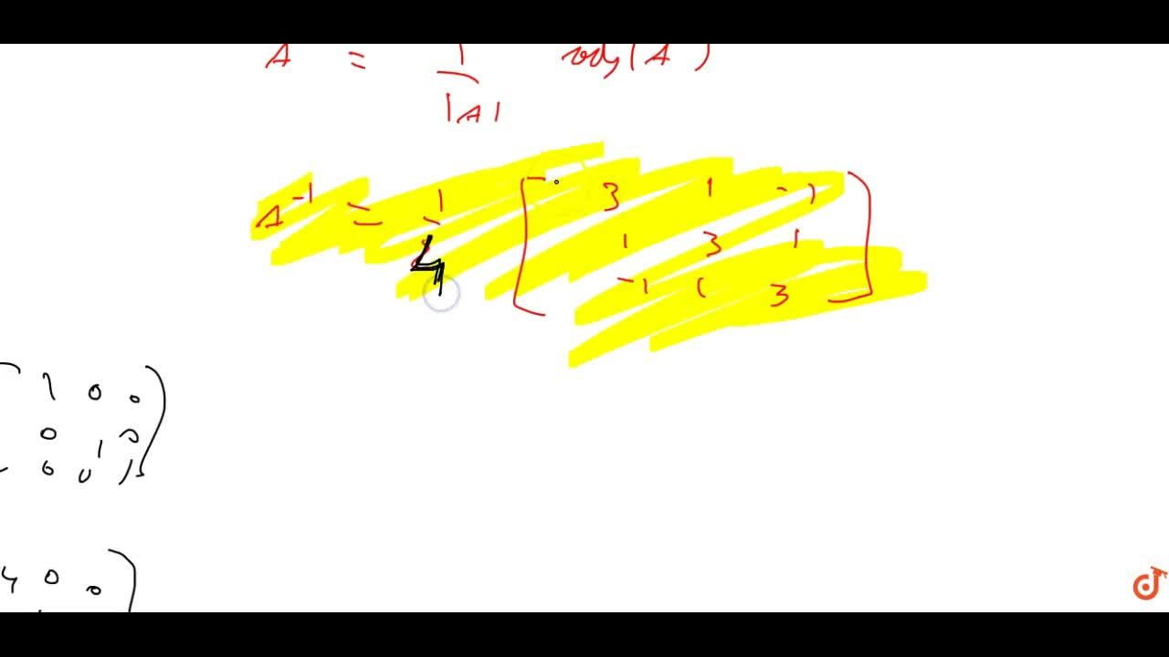 Solution for  If A=[[2,-1, 1],[-1 ,2,-1],[ 1, 1, 2]].Verify t