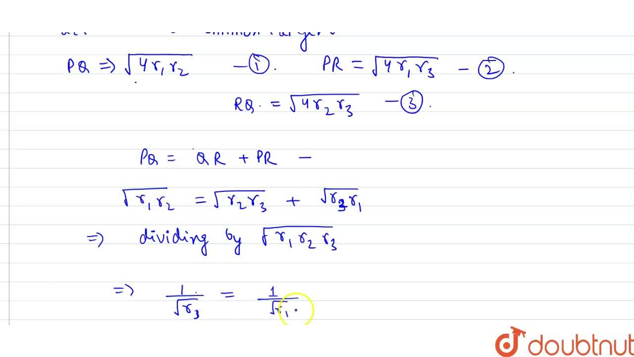 Solution for Two circle with radii r_(1) and r_(2) respecti