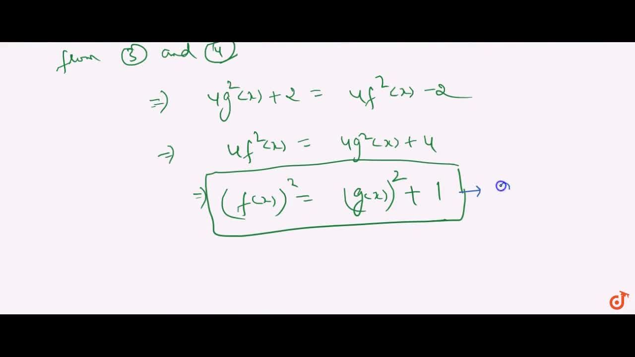 Solution for f is an even function, and g is an odd function, s