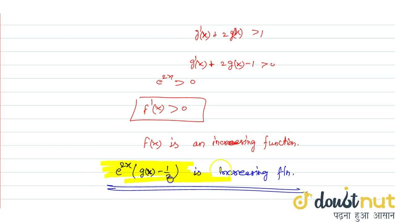 Solution for Suppose g(x) is a real valued differentiable fun