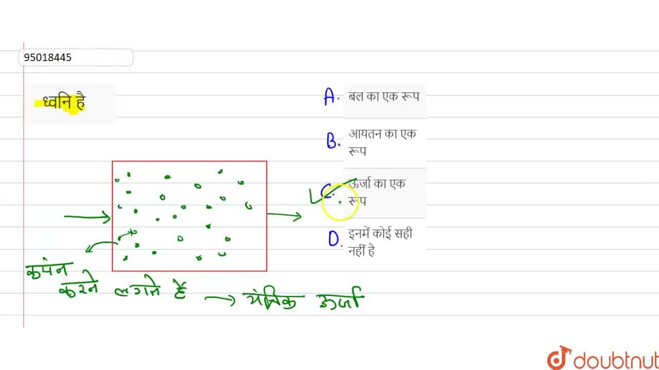 Solution for ध्वनि है