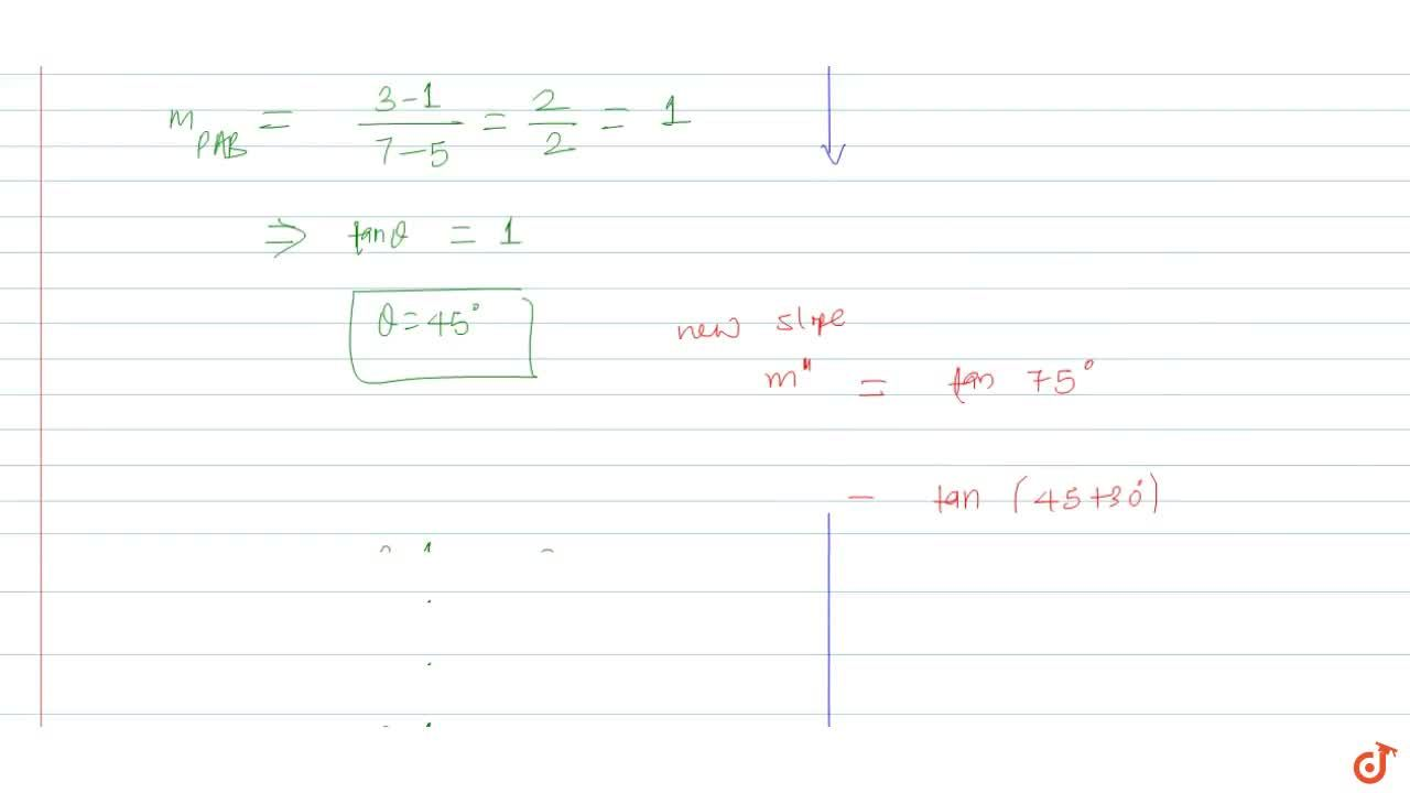 Solution for The line passing through (7,3), (5,1) meets the