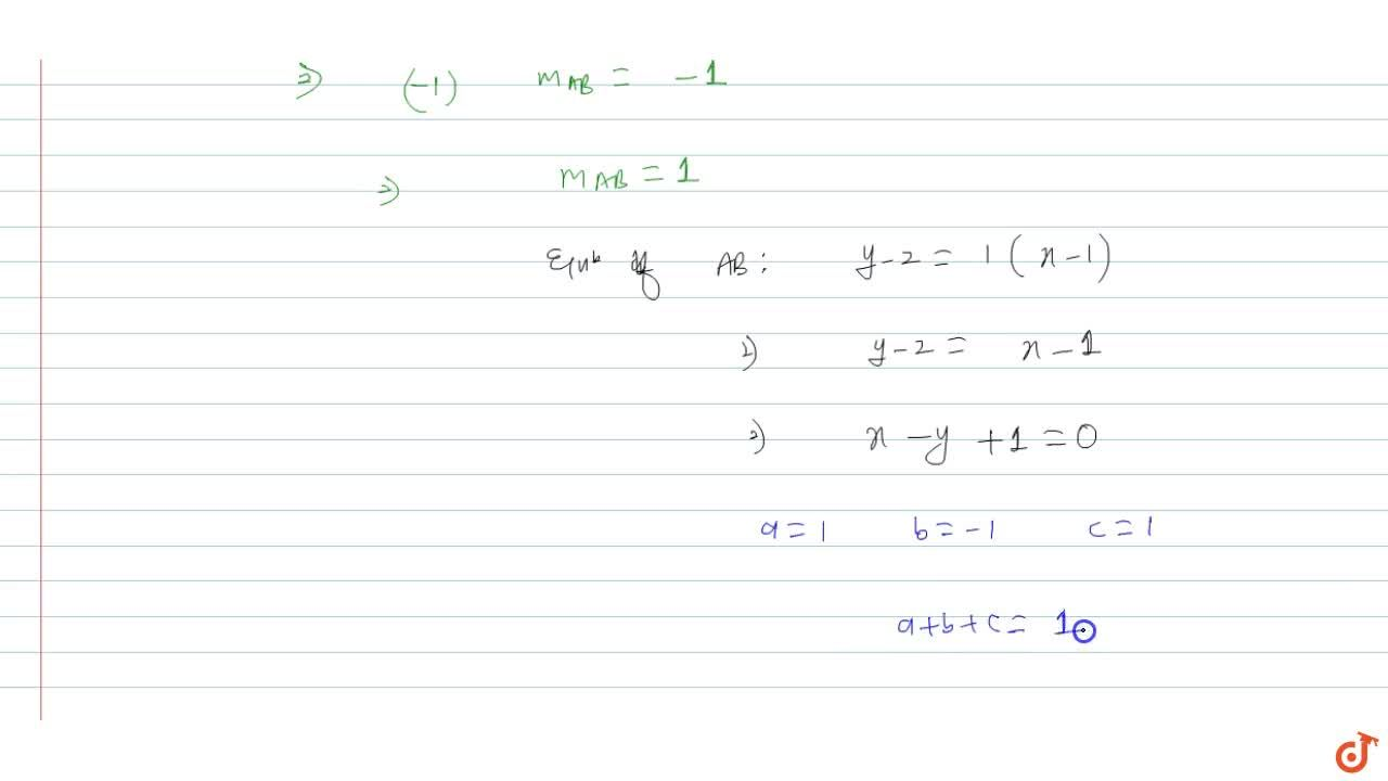Solution for Equation of chord of minimum length passing throug