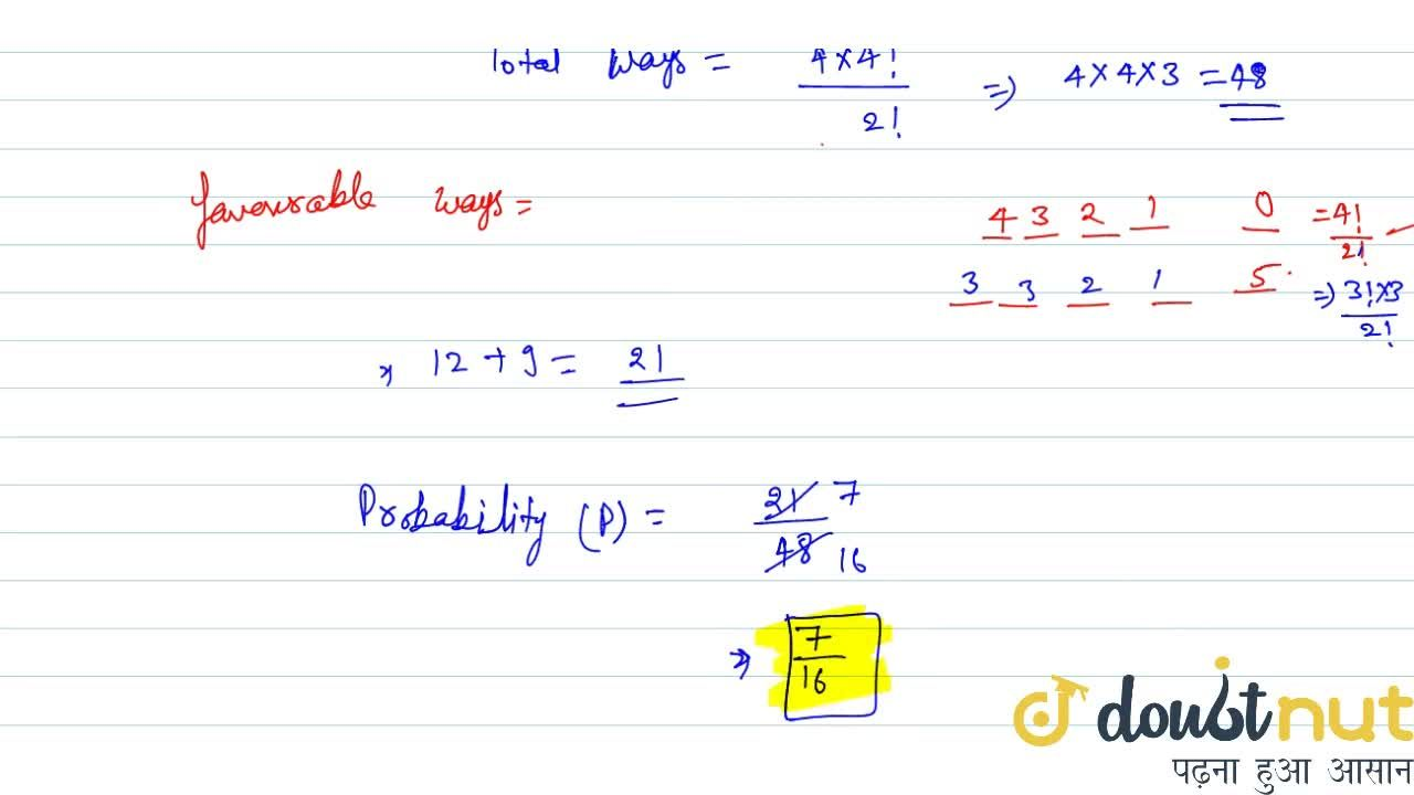 Solution for Out of 5 digits 0,3,3,4,5 five digit numbers are