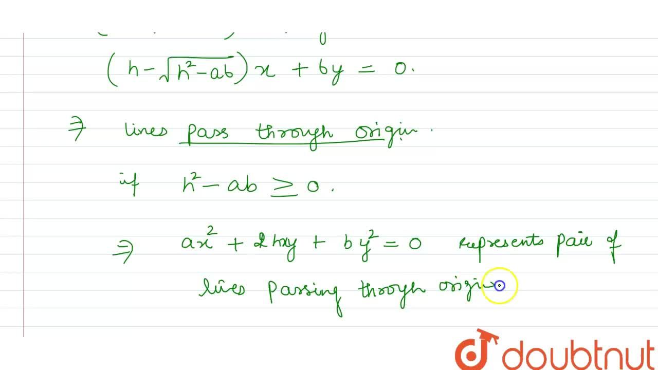 Solution for Show that a homogeneous equations of degree  two i