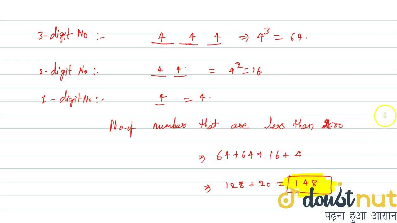 Solution for The number of numbers less than 2000 that can be f