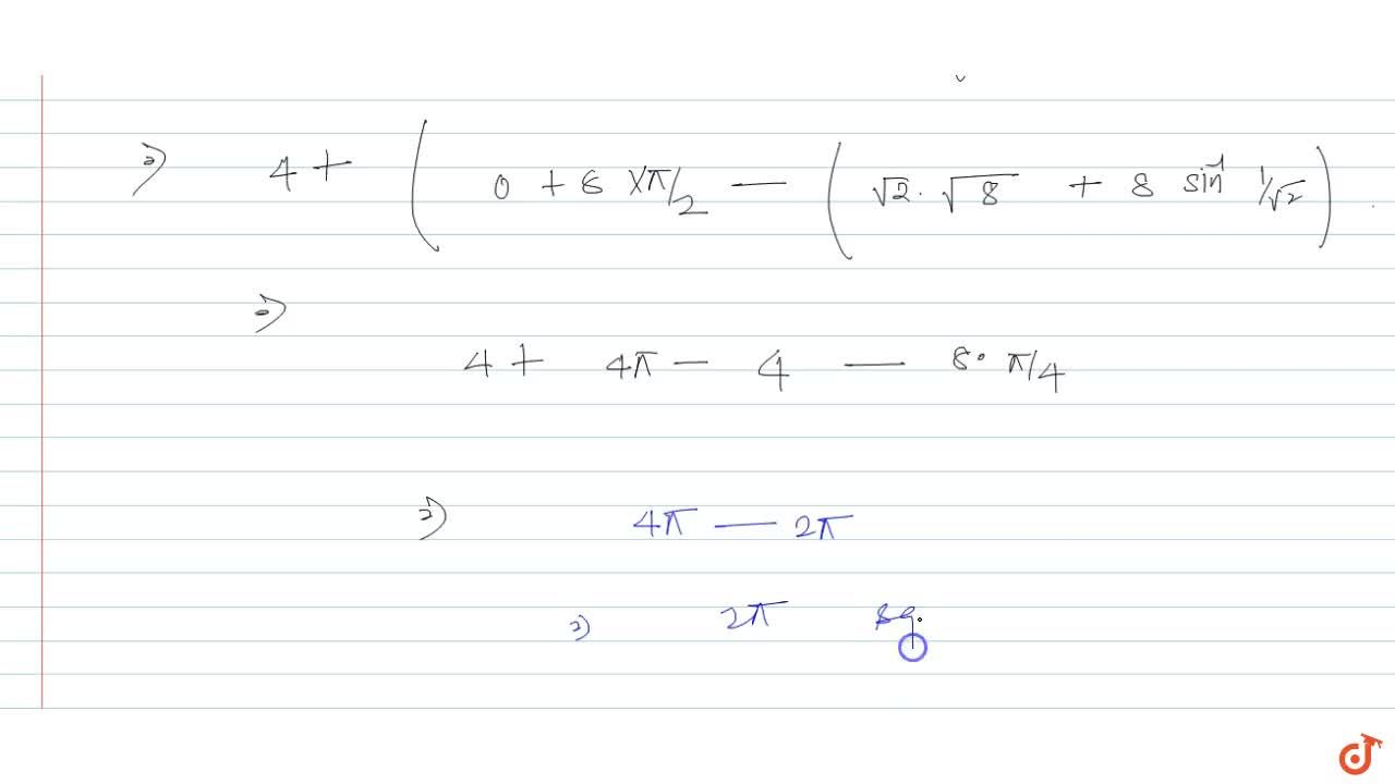 Find the area enclosed between first quadrant of a circle x^2 + y^2 = 16 and line y=x.