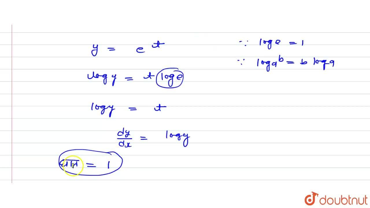 Solution for अवकल समीकरण <br> y(x)=1+ (dy),(dx)+(1),(1.2) ((dy