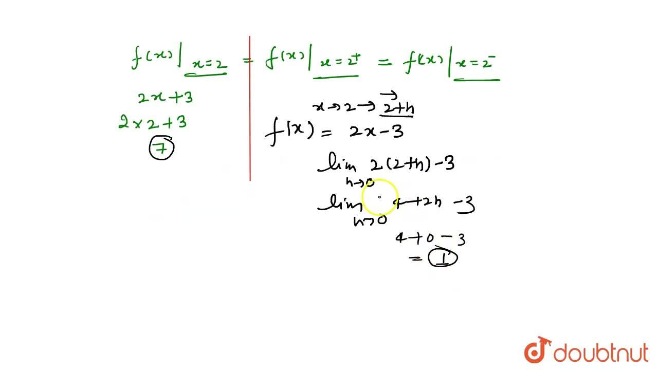 """Solution for f(x) = {{:(2x+3"""","""",x le 2),(2x-3"""","""",x gt 2):}"""