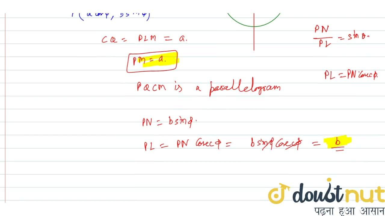 Solution for Q is the point on the auxiliary circle correspondi