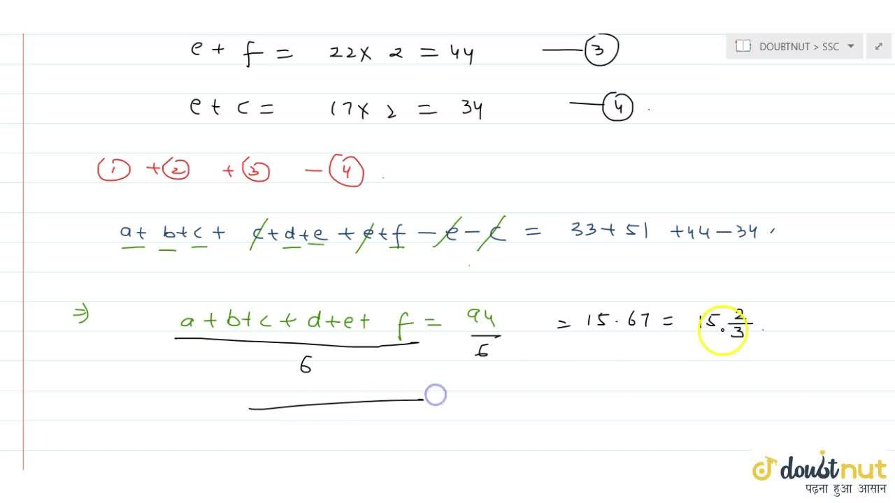 Solution for Average of a ,\ b and c is 11;   average of
