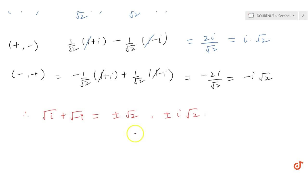 Solution for Some Typical examples Based on square root of Comp