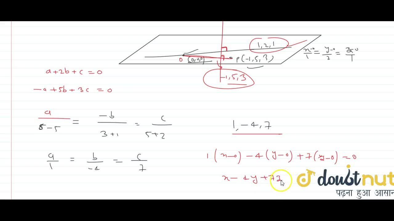 Solution for the mirror image of point (3,1,7) with respect t