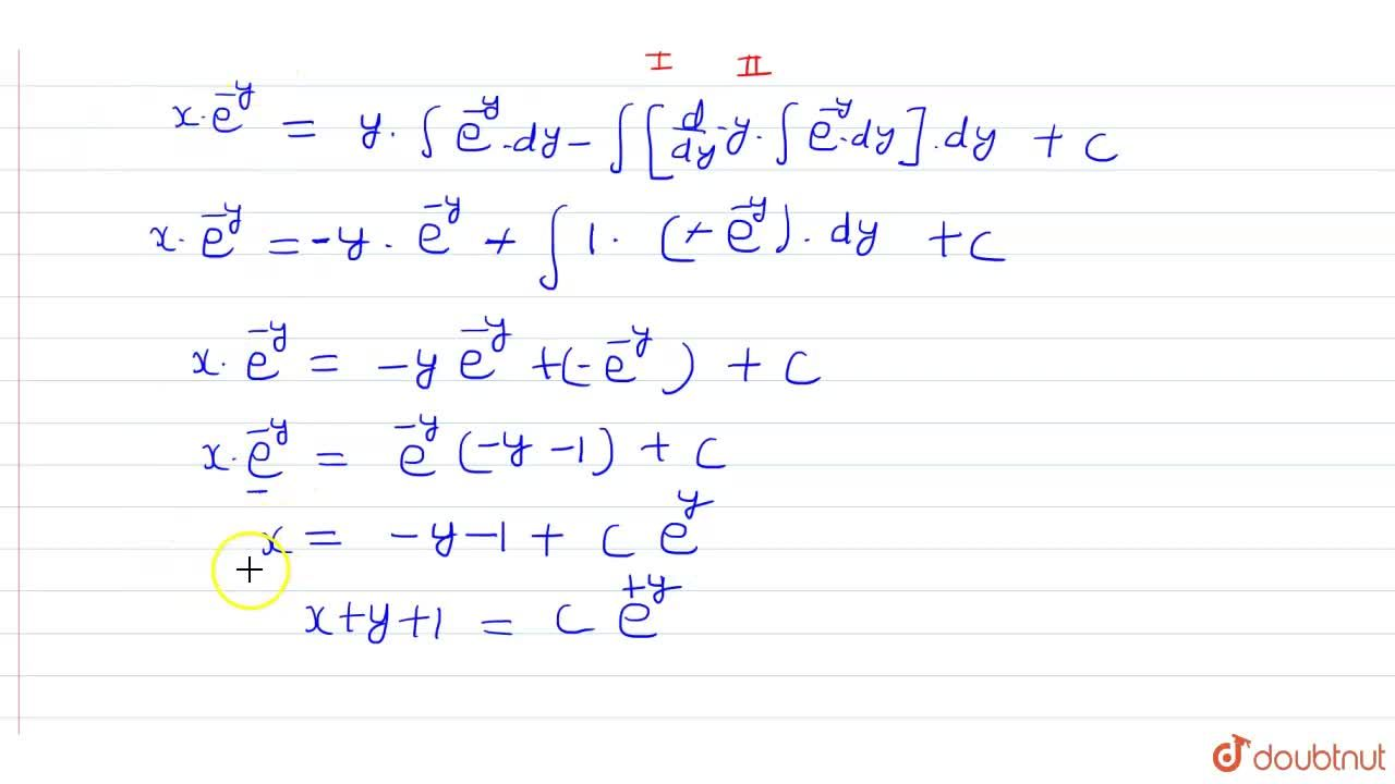 Solution for हल कीजिए- <br> (x+y) (dy),(dx)=1.