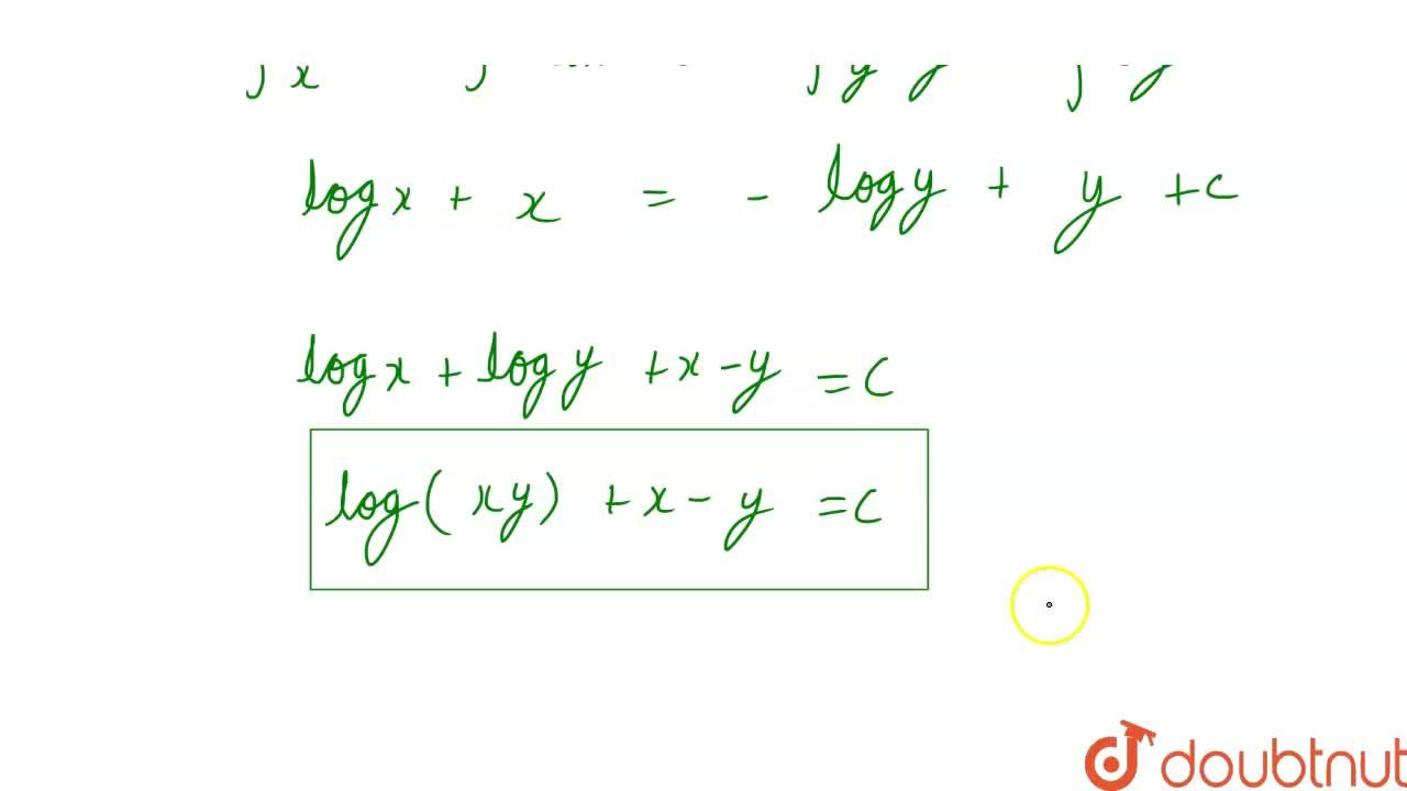 Solution for अवकल समीकरण (1+x)y dx + (1-y)xdy=0 को हल कीजिए।
