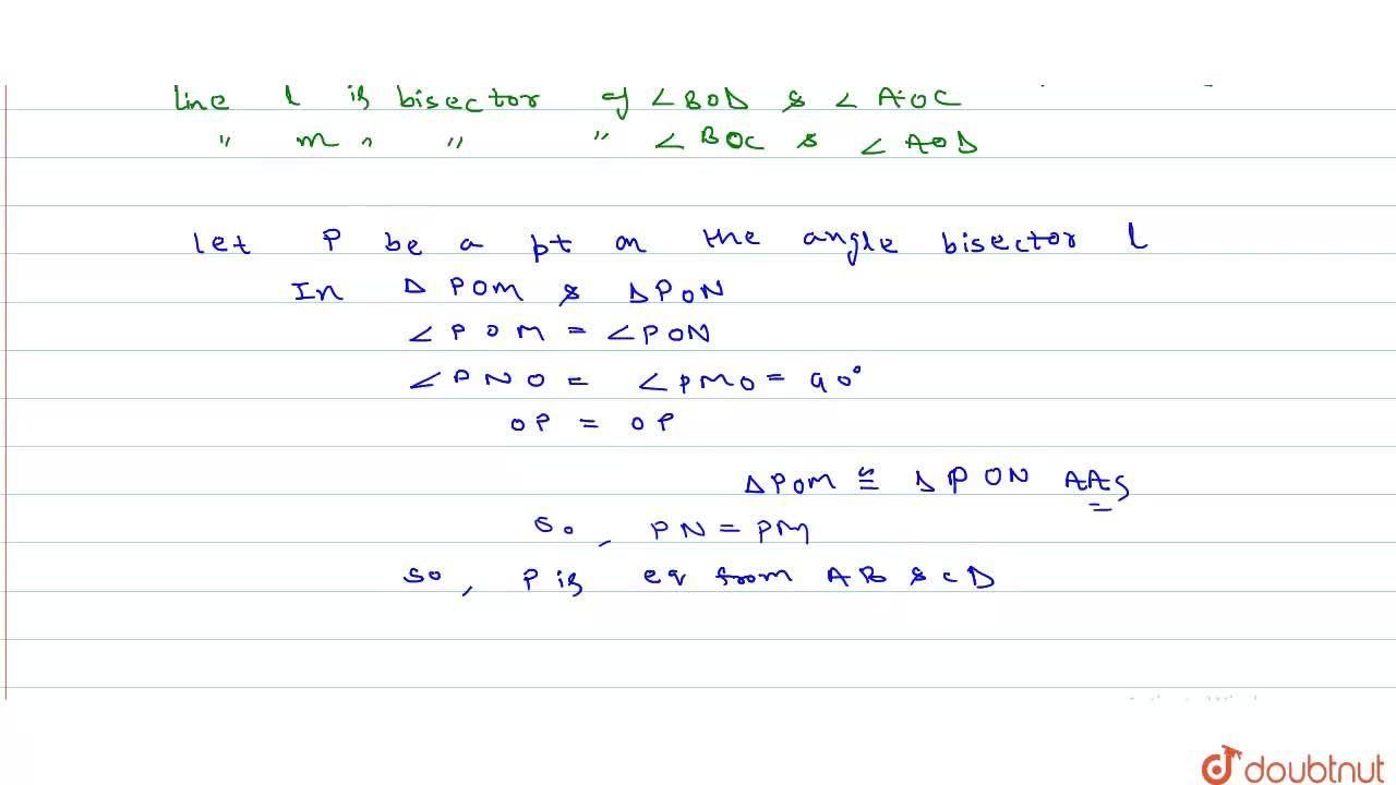 Solution for Show that the locus of a point, equidistant from t