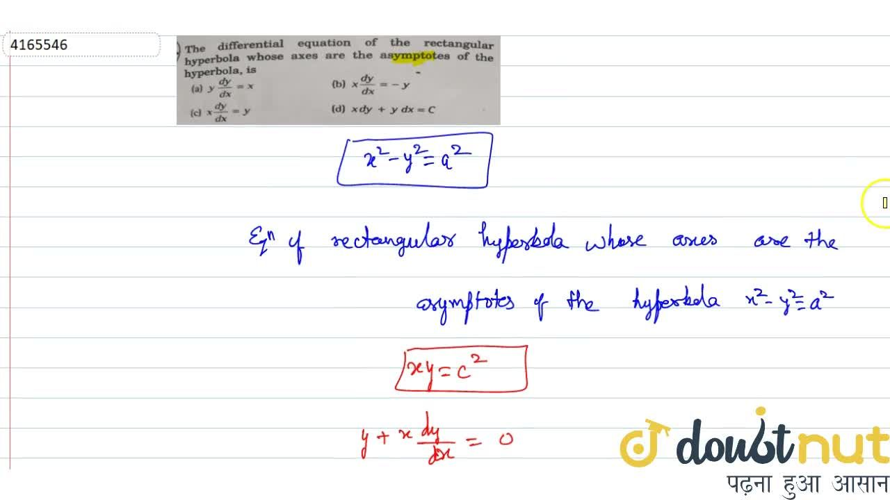 Solution for The differential equation of the rectangular hyper
