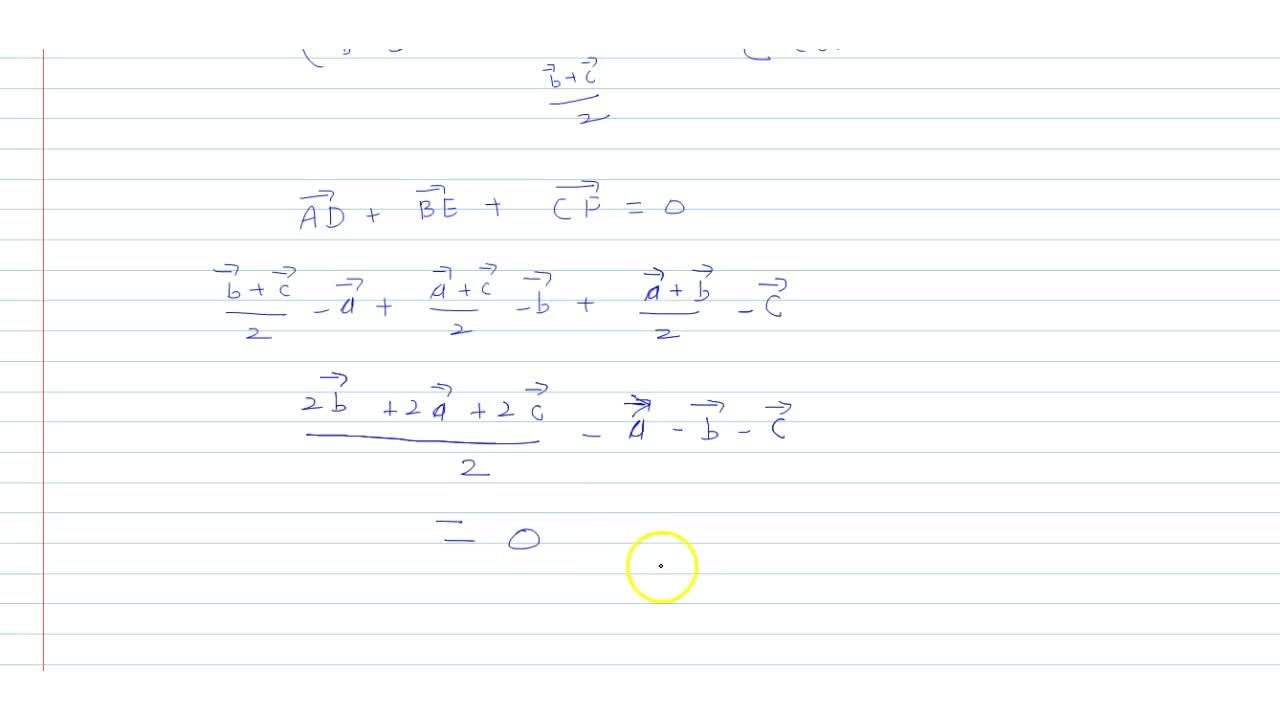 Solution for Show that the   sum of three vectors determined b