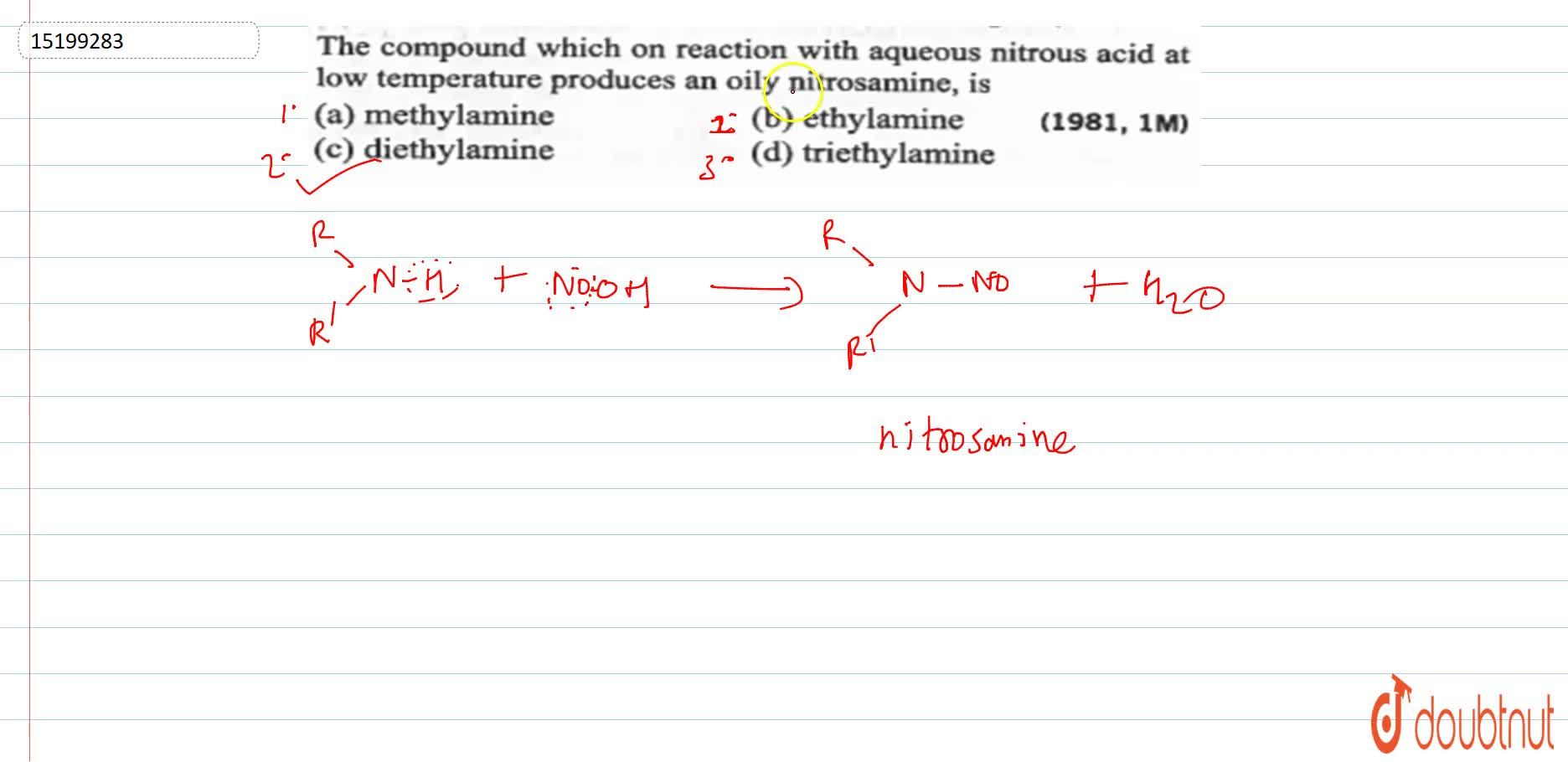 Solution for The compound which on rection with aqueous nirous