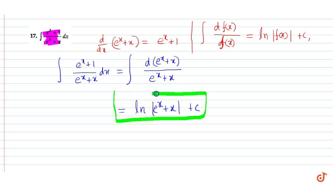 Solution for Evaluate: int(e^x+1),(e^x+x)dx