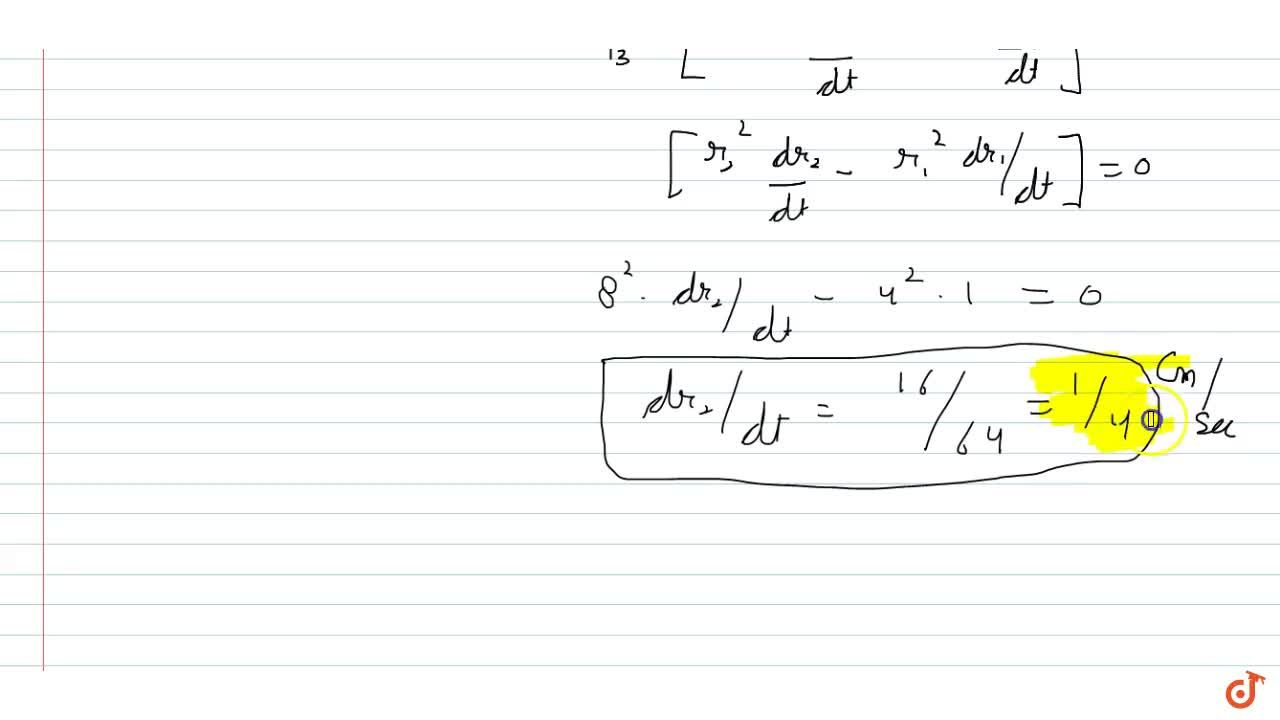 Solution for The volume of metal in a hollow sphere is constant