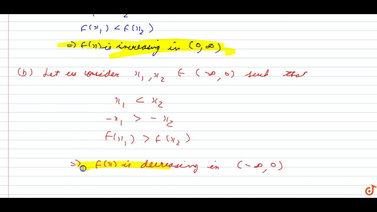 Solution for Without using the derivative, show that the functi