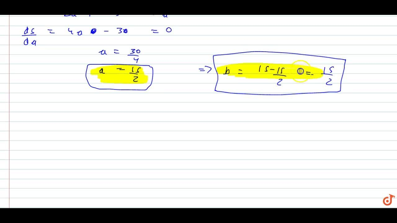 Solution for Determine two positive numbers whose sum is 15 and